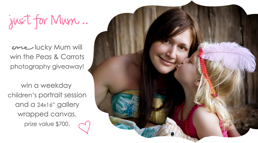 peas+carrots photography mothers day giveaway