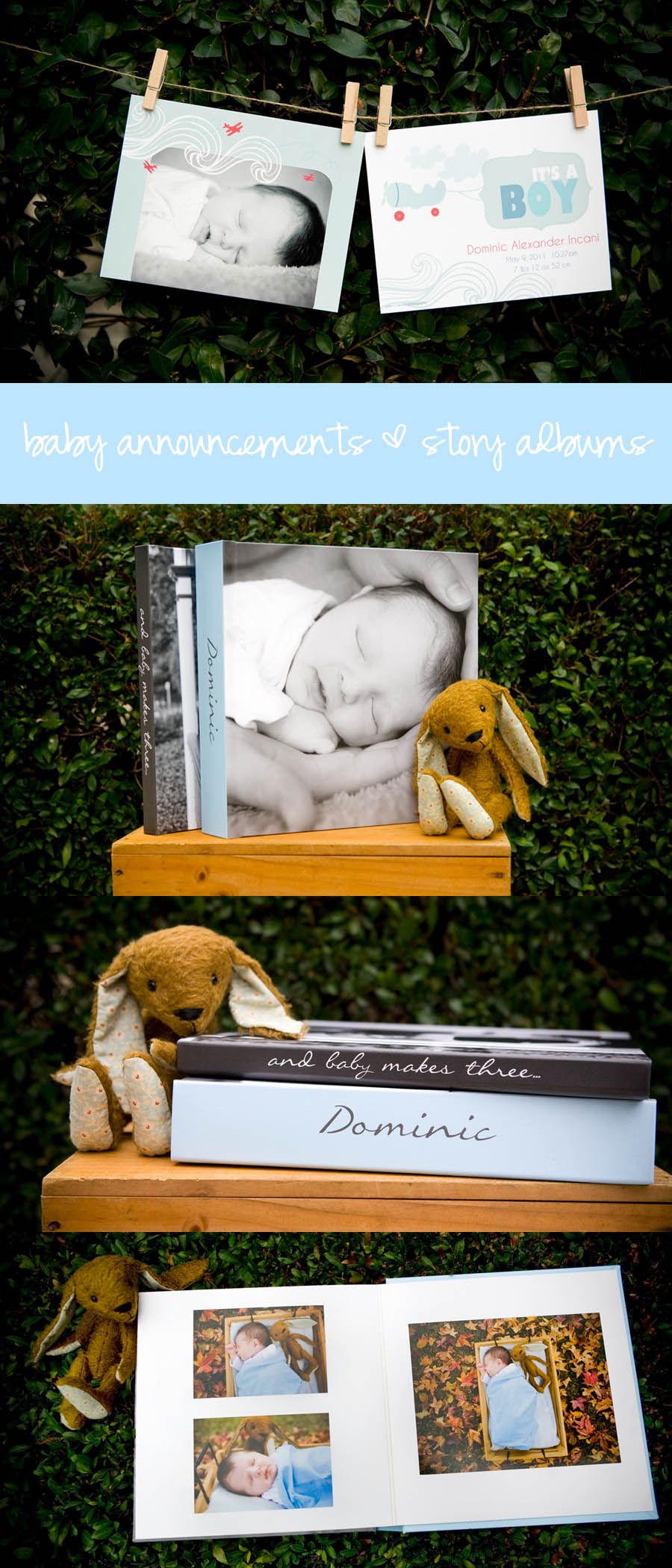 Peas + Carrots Photography, Baby Birth Announcements, Maternity and Newborn Storybook Albums