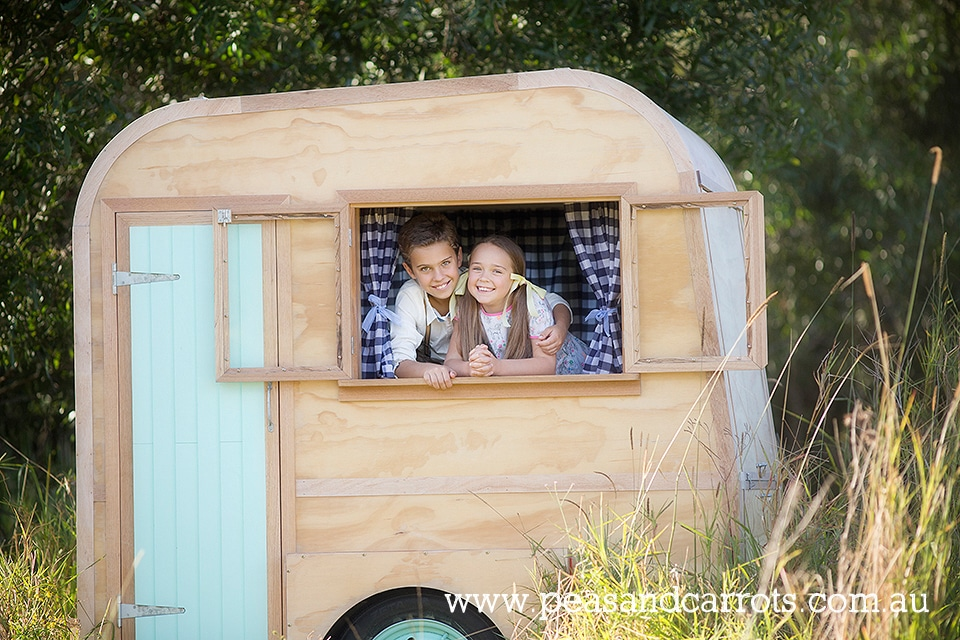 Brisbane Dayboro Samford Childrens Photography, Louis the little vintage caravan styled childrens portrait session.  Brisbane, Dayboro and Samford Baby, Children & Family Portrait Photography ~ Peas & Carrots Photography.  Award winning children