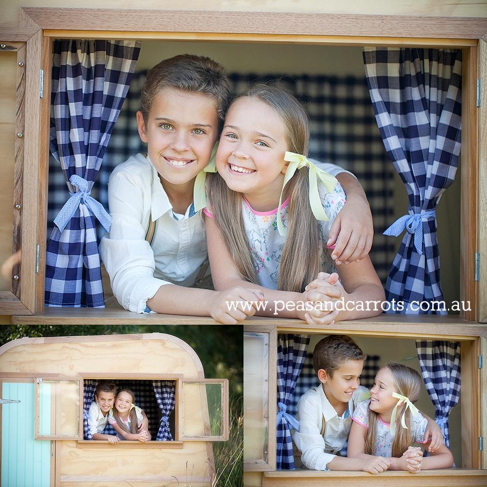 Brisbane Dayboro Samford Childrens Photography, Louis the little vintage caravan styled childrens portrait session.  Brisbane, Dayboro and Samford Baby, Children & Family Portrait Photography ~ Peas & Carrots Photography.  Award winning children